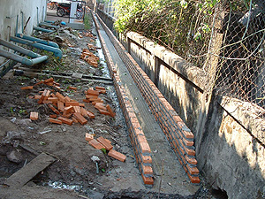 Construction of a water drainage system
