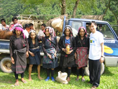 The remote Akha people