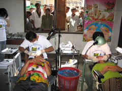 Lao Dentists hard at work