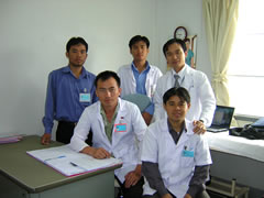 Lao team of doctors