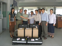 Delivery of Equipment to Oudomxay Hospital