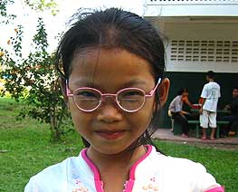 Vang with her corrective glasses