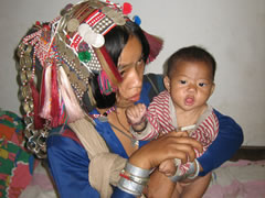 Akha mother and child