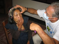 Dr. Leavitt with an Akha patient