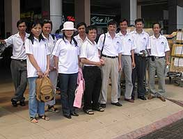 The Vietnamese surgical team