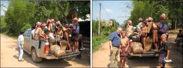 Akha women with children